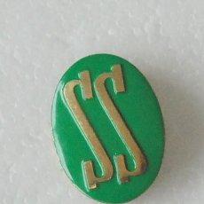 Militaria: PIN INSIGNIA ALFILER SS SERVICIO SOCIAL FALANGE VERDE . Lote 119479787
