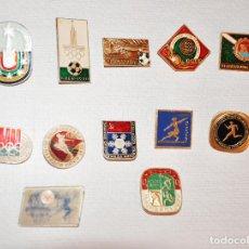 Militaria: LOTE 12 INSIGNIAS SOVIETICAS .TEMATICA-DEPORTE I OLIMPIADAS .URSS. Lote 120522059