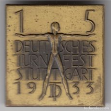Militaria: ALEMANIA INSIGNIA 15 FESTIVAL DE GIMNASIA DE STUTTGART 1933. 3,5 X 3,5 CM. PIN. Lote 121183803