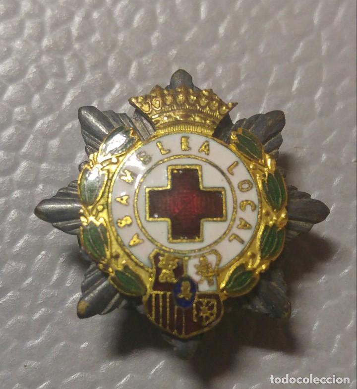 EMBLEMA SOLAPA CRUZ ROJA. EPOCA FRANCO (Militar - Insignias Militares Españolas y Pins)