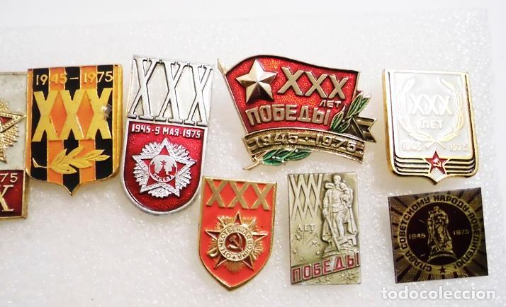 Militaria: Lote 10 insignias sovieticas .Tematica-30 aniversario de victoria en SGM.URSS - Foto 3 - 121680063