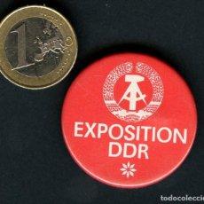 Militaria: INSIGNIA, PIN, ALEMANIA, EXPOSITION DDR. Lote 122402615