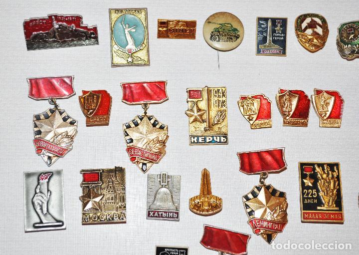 Militaria: Lote 24 insignias sovieticas .Tematica-siudades sovieticas.SGM.URSS - Foto 2 - 122531099