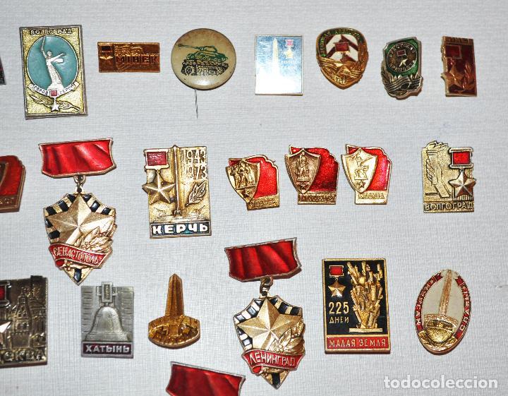 Militaria: Lote 24 insignias sovieticas .Tematica-siudades sovieticas.SGM.URSS - Foto 3 - 122531099