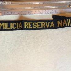 Militaria: CINTA LEPANTO MILICIA RESERVA NAVAL. Lote 122747915