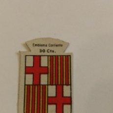 Militaria: EMBLEMA AUXILIO SOCIAL DE SOLAPA SERIE B Nº 77 BARCELONA CORRIENTE 30 CTS. Lote 124885023