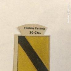 Militaria: EMBLEMA AUXILIO SOCIAL DE SOLAPA SERIE B Nº 103 CEA CORRIENTE 30 CTS. Lote 124918655