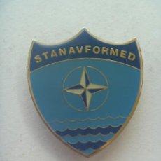 Militaria: OTAN : EMBLEMA DE PECHO DE STANAVFORMED , MISION DE LA MARINA.. Lote 218275417