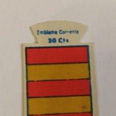 Militaria: EMBLEMA AUXILIO SOCIAL DE SOLAPA SERIE B Nº 162 GÜEL CORRIENTE 30 CTS. Lote 125995483