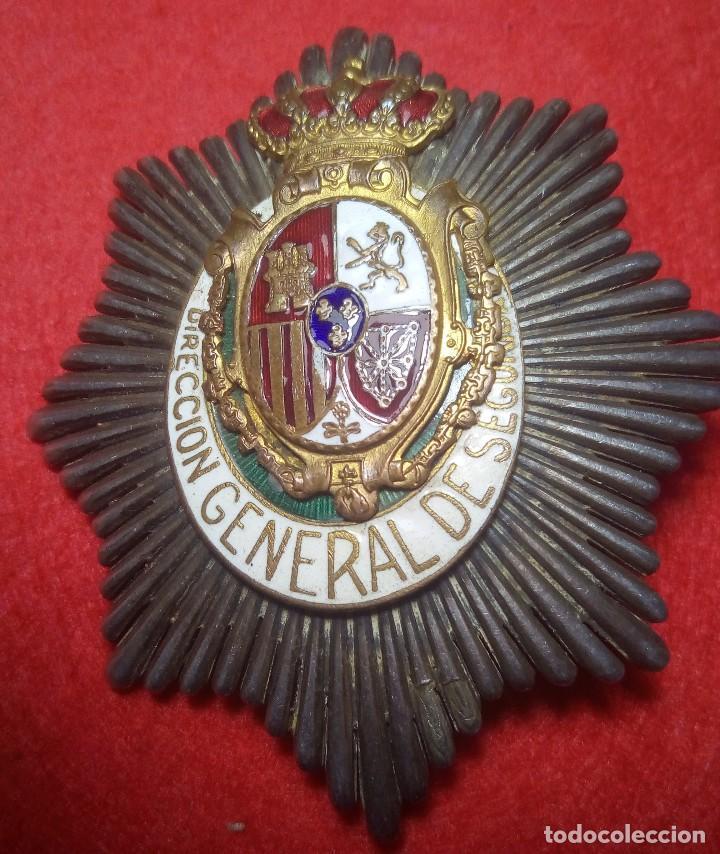 PLACA ORIGINAL DIRECCIÓN GENERAL DE SEGURIDAD (Militar - Insignias Militares Españolas y Pins)