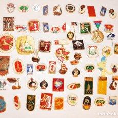 Militaria: LOTE 60 INSIGNIAS SOVIETICAS .TEMATICA-DEPORTES .URSS. Lote 126260063