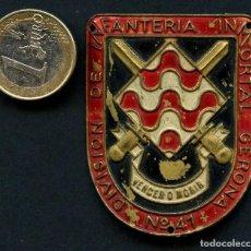 Militaria: GUERRA CIVIL POST, INSIGNIA, EMBLEMA METÁLICO, 41 DIVISIÓN. Lote 126739415