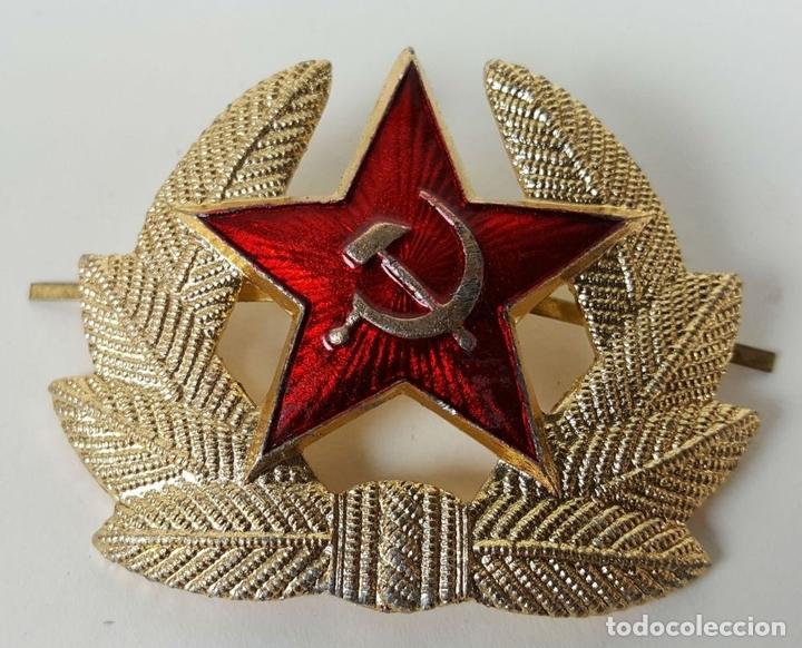 Militaria: COLECCIÓN DE 140 INSIGNIAS MILITARES RUSAS PARA GORRO USHANKA. CIRCA 1950. - Foto 3 - 127200659
