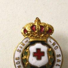 Militaria: INSIGNIA PIN DE SOLAPA CRUZ ROJA IN HOC SIGNO SALUS. Lote 127201072