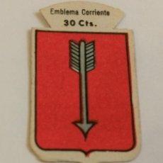 Militaria: EMBLEMA AUXILIO SOCIAL DE SOLAPA SERIE B Nº 201 BURGUILLOS CORRIENTE 30 CTS. Lote 127237075