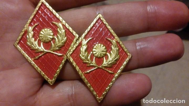 INTENDENCIA PAR DE ROMBOS NUEVOS (Militar - Insignias Militares Españolas y Pins)
