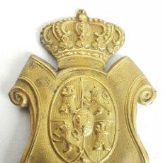 Militaria: ESCUDO PARA GORRA. ALFONSO XIII. REPÚBLICA. METAL DORADO. SIGLO XX. . Lote 128337163