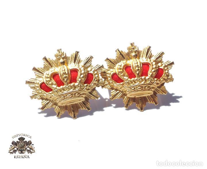 DISTINTIVOS PARA CUELLO DE CARABINEROS ALFONSO XIII (Militar - Insignias Militares Españolas y Pins)