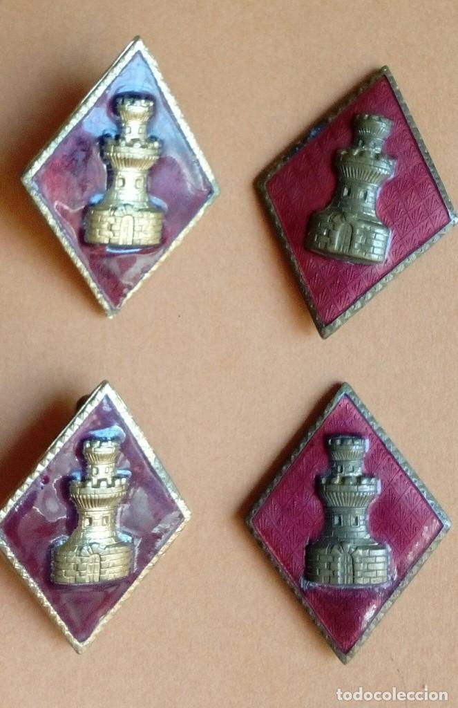 Militaria: Dos parejas de rombos esmaltados de Ingenieros, de calidad. - Foto 3 - 129127551