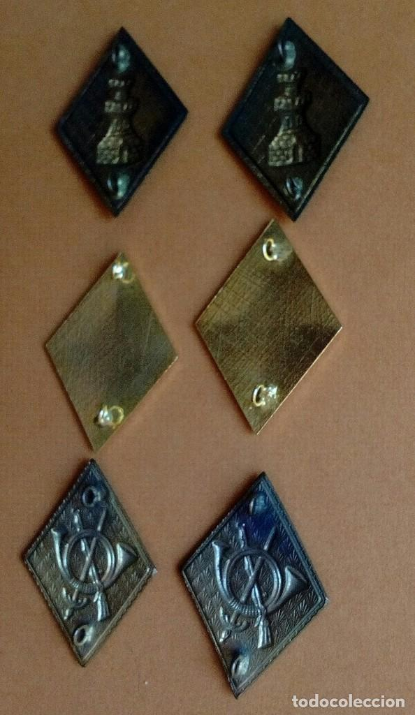 Militaria: Tres pares de rombos esmaltados: ingenieros, caballería, infantería. - Foto 2 - 129127963