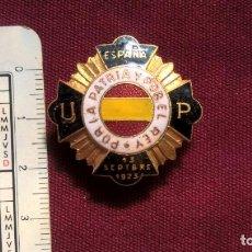 Militaria: INSIGNIA CARLISTA DEL GOLPE DE ESTADO DE PRIMO DE RIVERA 13 DE SEPTIEMBRE DE 1923 - UNION PATRIOTICA. Lote 129374655