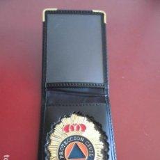 Militaria - Cartera y placa protección civil - 129436487