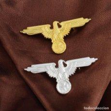 Militaria: ÁGUILA ALEMANA INSIGNIA. 2 PIN ORO Y PLATA. Lote 172310594