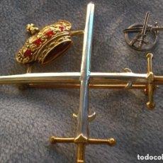 Militaria: RARISIMA PLACA PUNZONADA DE LA ASOCIACION DE HIDALGOS DE ESPAÑA. GRAN TAMAÑO. PLACA Y MINIATURA.. Lote 132029862