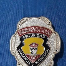 Militaria: INGSIGNIA SERSEVICON SEGURIDAD VIGILANCIA Y PROTECION ESMALTADA. Lote 132427014