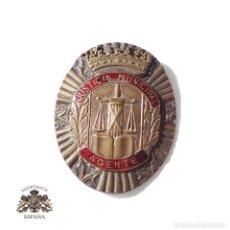 Militaria: PLACA AGENTE JUSTICIA MUNICIPAL, ÉPOCA DE FRANCO. Lote 132518006