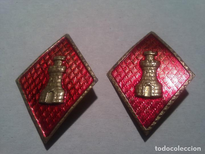 2 ROMBOS DE INGENIEROS (Militar - Insignias Militares Españolas y Pins)