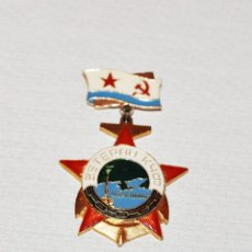 Militaria: INSIGNIA ,PIN SOVIETICA .VETERANO FLOTA DE MAR NEGRO .SEVASTOPOL .URSS. Lote 133562154