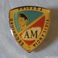 Militaria: INSIGNIA VIGILANTE JURADO SEGURIDAD PRIVADA AM. Lote 134080914