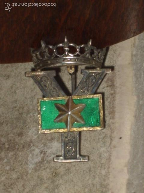 Militaria: Insignia o galon de Alferez Provisional en plata y esmalte verde.con contraste. - Foto 2 - 60984887