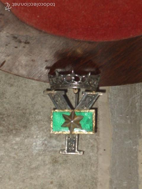 Militaria: Insignia o galon de Alferez Provisional en plata y esmalte verde.con contraste. - Foto 3 - 60984887