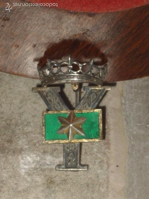 Militaria: Insignia o galon de Alferez Provisional en plata y esmalte verde.con contraste. - Foto 4 - 60984887