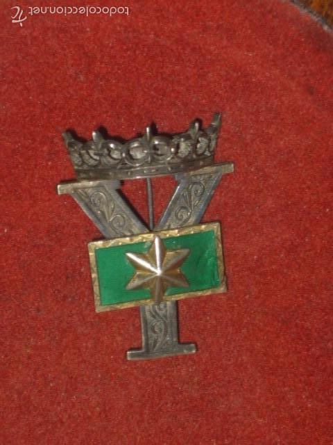 Militaria: Insignia o galon de Alferez Provisional en plata y esmalte verde.con contraste. - Foto 5 - 60984887