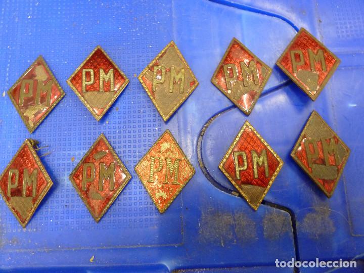 10 PINS TIPO ROMBO PM POLICIA MILITAR (Militar - Insignias Militares Españolas y Pins)