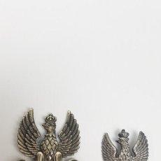 Militaria: LOTE DOS PLACAS POLACAS DE PLATA. Lote 136746746