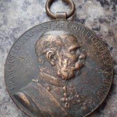 Militaria: MEDALLA CONMEMORATIVA BRONCE DEL EMPERADOR FRANCISCO JOSÉ I 1898 AL PERSONAL DE LAS FUERZAS ARMADAS. Lote 137187486