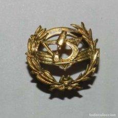 Militaria: INSIGNIA SOLAPA DE PLATA, MICROSCOPIO CIENCIA, MEDICINA, SANIDAD, MIDE 1,5 CM. DE DIAMETRO.. Lote 137690046