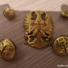Militaria: LOTE BOTONES Y AGUILA PARA CASCO Z EJÉRCITO ESPAÑOL. Lote 137937046