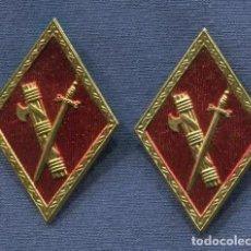 Militaria: PAREJA DE ROMBOS. GUARDIA CIVIL. ÉPOCA DE FRANCO.. Lote 139435574