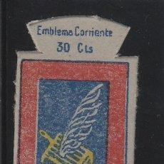 Militaria: SERIE X - Nº 2 EL ESCORIAL .. 30 CTS ... EMBLEMA AUXILIO SOCIAL ...HERÁLDICA , ESCUDOS. Lote 140815722