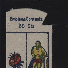 Militaria: SERIE X - Nº 25 REUS . 30 CTS ... EMBLEMA AUXILIO SOCIAL ...HERÁLDICA , ESCUDOS. Lote 140815950