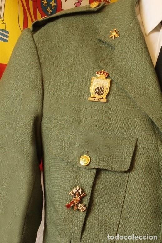 Militaria: Insignia militar identificativa de la Permanencia en la Unidad de La Legión. Tamaño 40x30 mm. - Foto 4 - 140850046