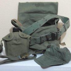 Militaria: LOTE ARMADA MILITAR EJERCITO VINTAGE CANTIMPLORA BOLSA X2 CINTURONES JAPON US 19. Lote 142961162