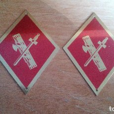 Militaria: PAREJA DE ROMBOS DE CUELLO - GUARDIA CIVIL . Lote 143402550