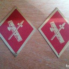Militaria: PAREJA DE ROMBOS DE CUELLO - GUARDIA CIVIL . Lote 143402714