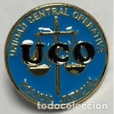 Militaria: ESTUPENDO PIN DE 2 CMTS DE DIAMETRO DE LA UCO DE LA GUARDIA CIVIL. Lote 144277798